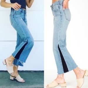 FP ASOS Revice Flare Wide Leg Patch Cropped Jean